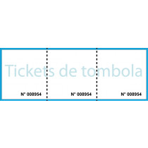 Ticket de tombola 2 souches